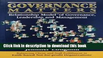 Books Governance Matters: Balancing Client and Staff Fulfillment in Faith-based Not-for-profit