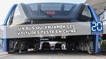 Un bus qui enjambe les voitures testé dans la ville de Qinhuangdao
