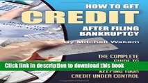 Books How to Get Credit After Filing Bankruptcy Free Online