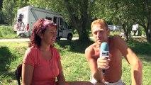Hautes-Alpes : Crots : La plage des eaux douces investie par les italiens