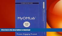 READ ONLINE MyOMLab with Pearson eText -- Access Card -- for Introduction to Operations and Supply