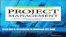 Ebook Project Management: A Systems Approach to Planning, Scheduling, and Controlling Free Online