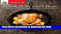 PDF  Cook It in Cast Iron: Kitchen-Tested Recipes for the One Pan That Does It All (Cook s