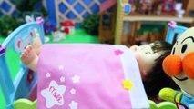 ぽぽちゃん アンパンマン おもちゃアニメ どこでもお昼寝できるよ Baby Doll Popo chan Sleeping Training