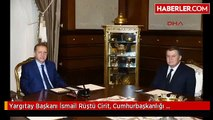 Yargıtay Başkanı İsmail Rüştü Cirit, Cumhurbaşkanlığı Sarayı'nda