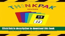 Ebook Thinkpak: A Brainstorming Card Deck Free Download