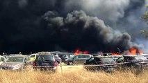 Incêndio no parque de estacionamento do Andanças destrói 422 carros