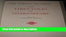 Books The Norton Facsimile: The First Folio of Shakespeare Full Online