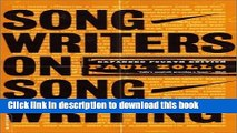 Ebook Songwriters On Songwriting: Revised And Expanded Full Online