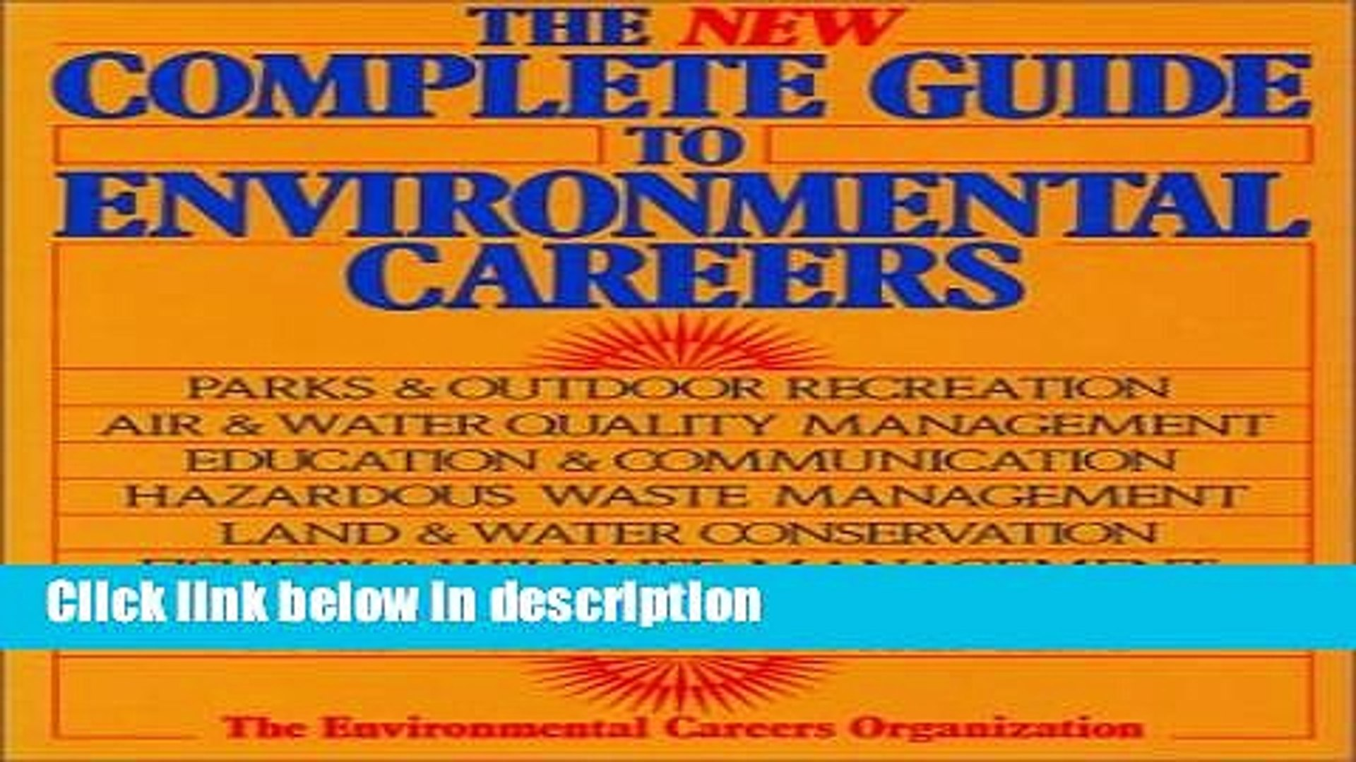 Ebook The New Complete Guide to Environmental Careers Free Online