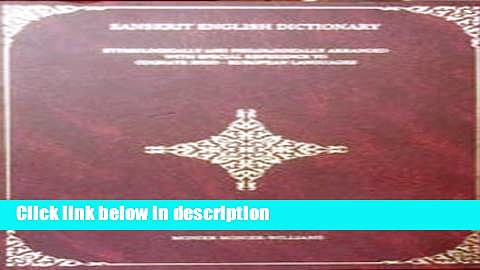 Books A Sanskrit-English Dictionary: Etymological and Philologically Arranged With Special