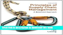 Books Principles of Supply Chain Management: A Balanced Approach (with Premium Web Site Printed