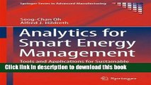 Books Analytics for Smart Energy Management: Tools and Applications for Sustainable Manufacturing