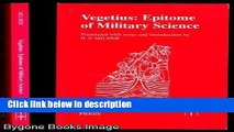 Ebook Vegetius: Epitome of Military Science (Translated Texts for Historians) Free Download