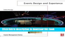 Books Events Design and Experience (Events Management) Free Online