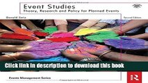 Ebook Event Studies: Theory, Research and Policy for Planned Events (Events Management) Full