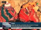 Perú: ola de frío deja más de 50 muertos en Cusco y Puno