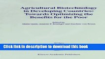 Books Agricultural Biotechnology in Developing Countries: Towards Optimizing the Benefits for the