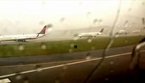 Shocking footage of Airplane Struck By Lightning Bolts