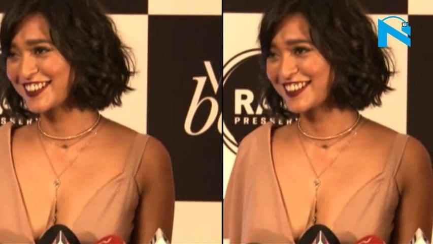 Sayali Bhagat risks wardrobe malfuntion in low cut gown