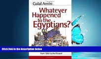 For you Whatever Happened to the Egyptians? Changes in Egyptian Society from 1950 to the Present