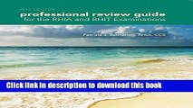 Ebook Professional Review Guide for the RHIA and RHIT Examinations, 2016 Edition (Book Only) Full