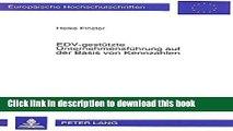 PDF  EDV-gestützte Unternehmensführung auf der Basis von Kennzahlen: Die Erstellung eines