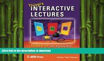 DOWNLOAD Thiagi s Interactive Lectures: Power Up Your Training With Interactive Games and