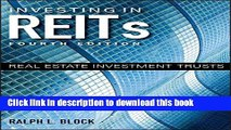 Download Books Investing in REITs: Real Estate Investment Trusts (Bloomberg) PDF Free