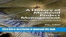 Books A History of Medieval Project Management: From the Byzantine Empire to the Gothic Period