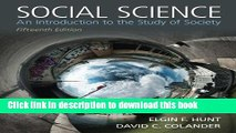 Ebook Social Science: An Introduction to the Study of Society Full Online