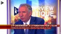 Fondation pour l'Islam : François Bayrou s'interroge sur le choix de Chevènement