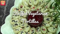 Tortillas Végétariennes Farcies - Stuffed Vegetarian Tortillas - التورتيا
