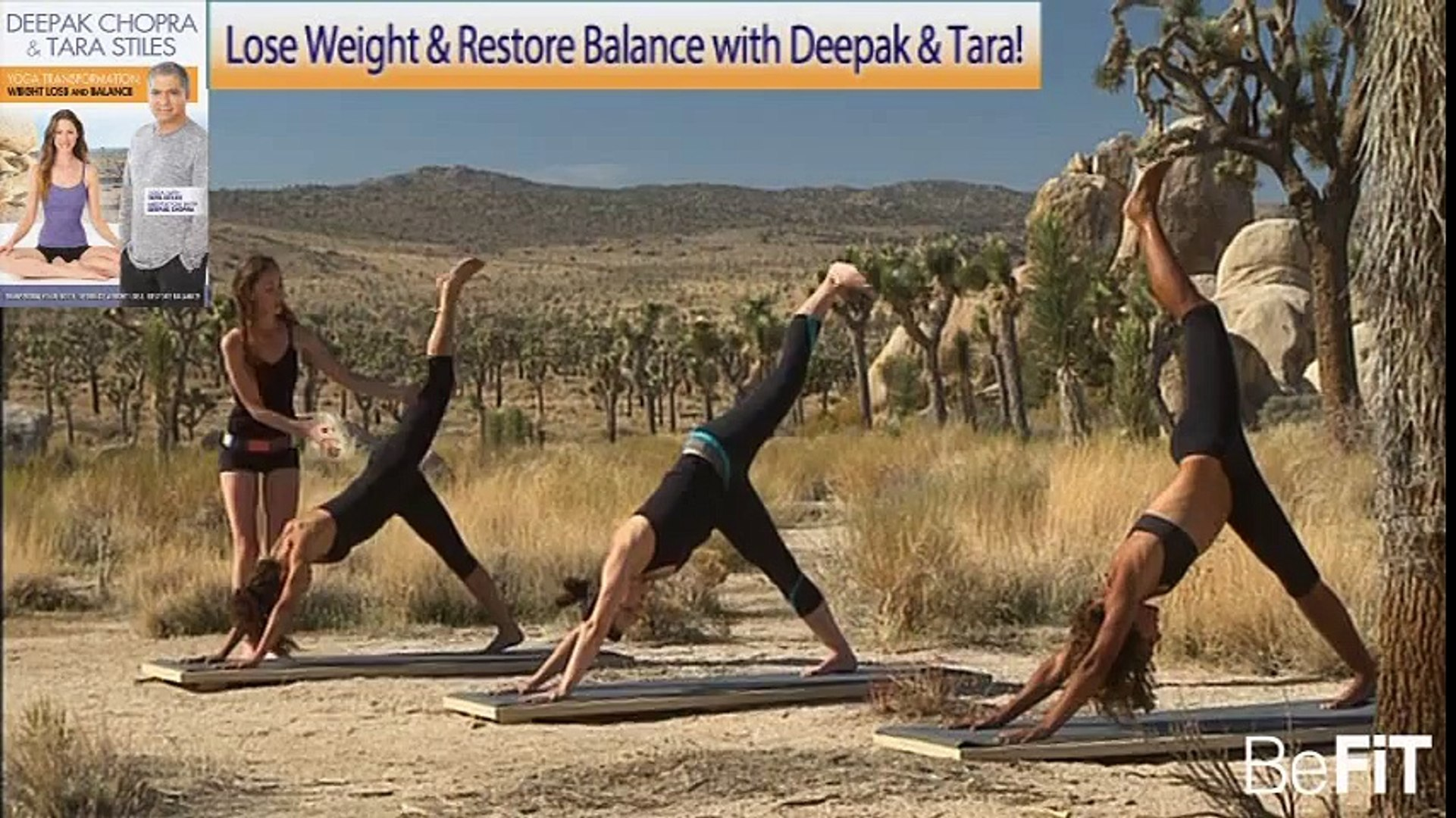 Yoga Workout for Strength & Energy Full 50 Minute Workout- Tara Stiles &  Deepak Chopra