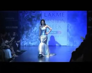 Actress Sridevi almost trips on ramp