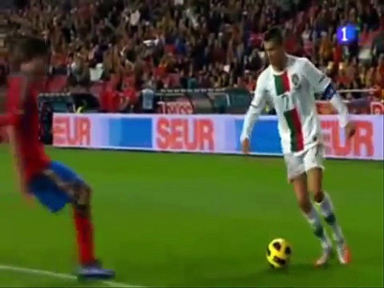 Cristiano Ronaldo-Reverse Elastico-Flip Flap, Skills vs Spain 2010-2011  (final version)