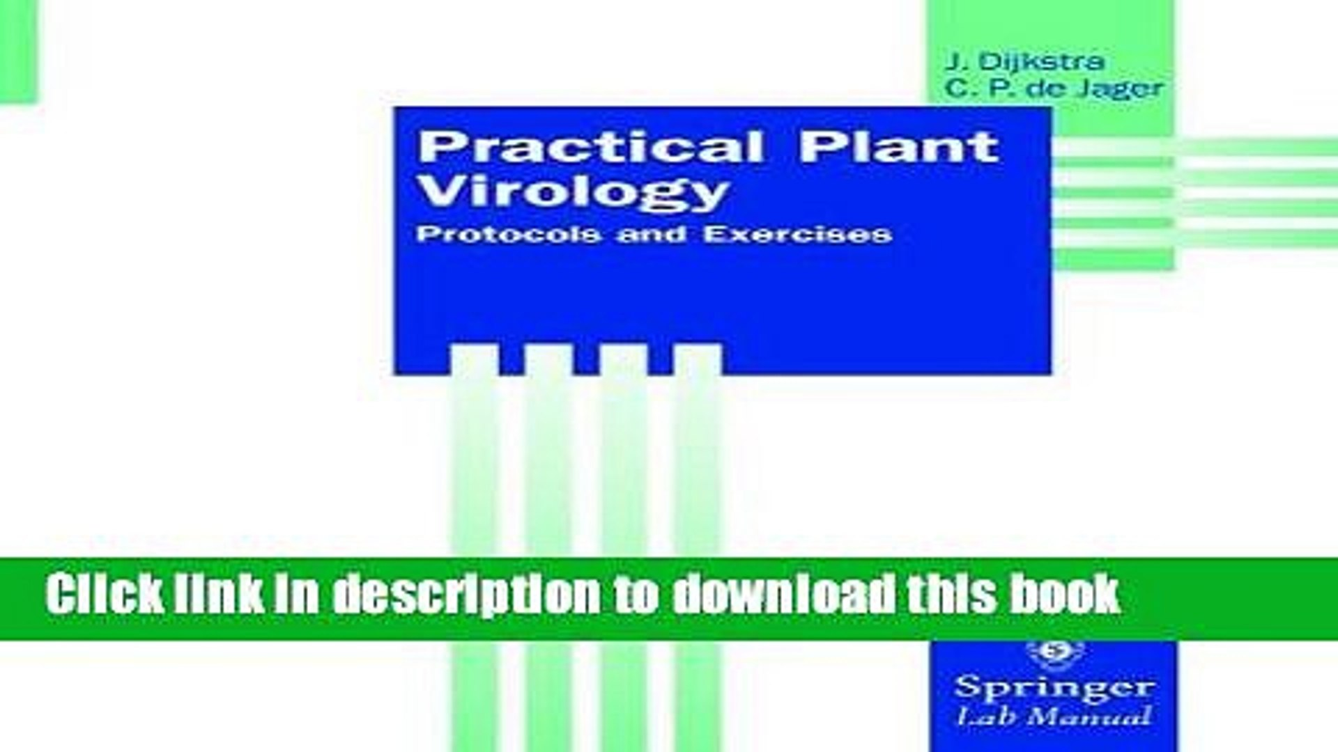 Practical Plant Virology: Protocols and Exercises