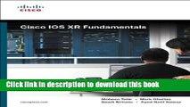 Read Books Cisco IOS XR Fundamentals ebook textbooks - video