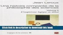 Books Une histoire comparée de la philosophie des sciences 2 Free Download