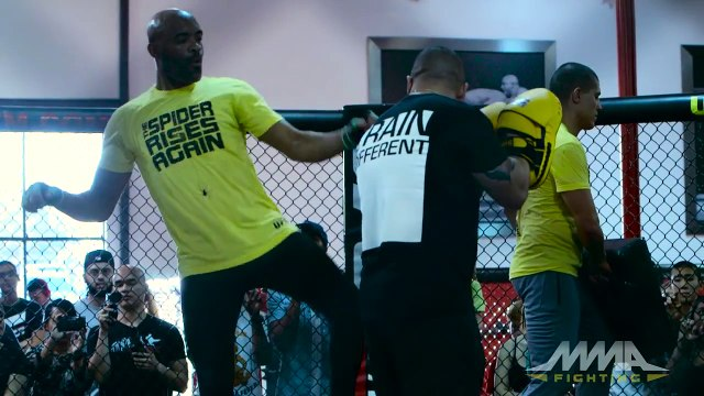 UFC Fight Night 84: Anderson Silva Workout Highlights