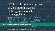 Ebook Dictionary of American Regional English: Volume 2: D-H Full Online