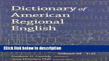 Books Dictionary of American Regional English, Volume III: I-O Free Online