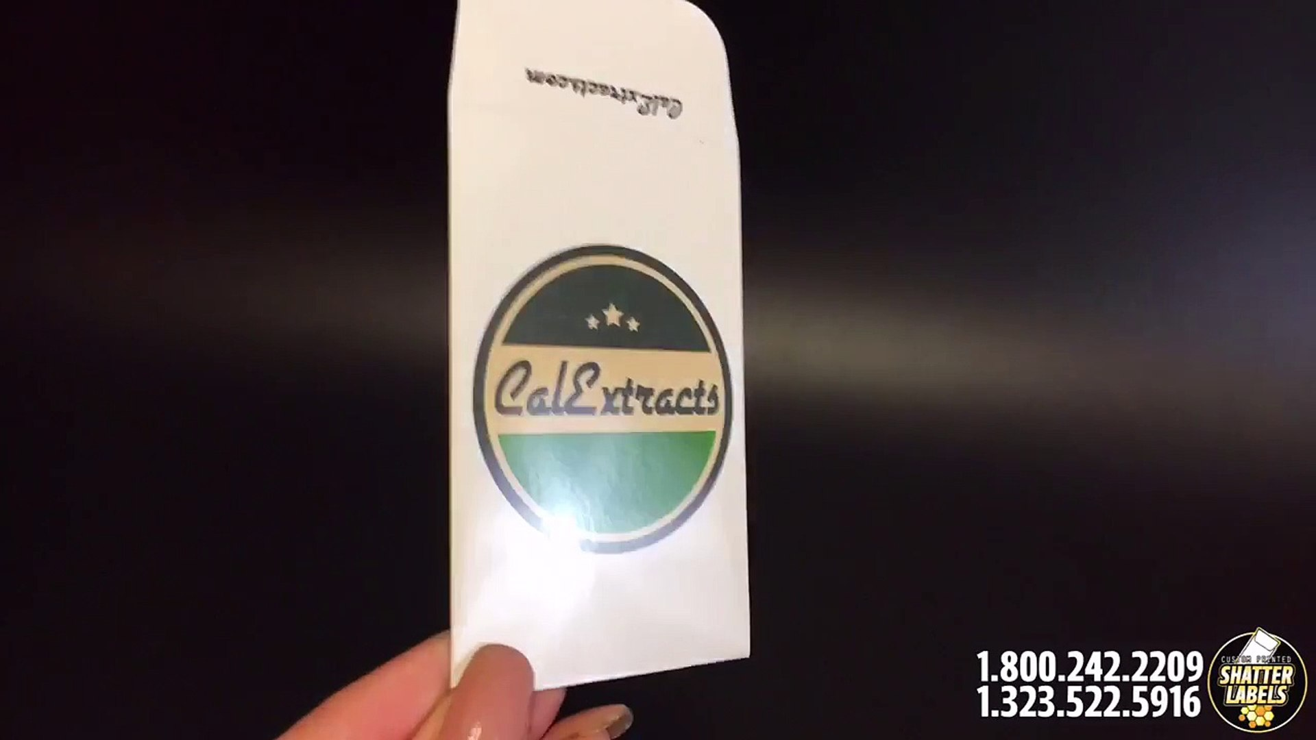 Cal Extracts - Custom printed coin envelopes shatter packaging marijuana  Packaging by shatter labels