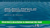 [PDF] The Pure Theory of International Trade and Distortions (Routledge Revivals)  Read Online