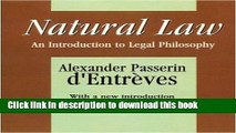Books Natural Law: An Introduction to Legal Philosophy (Comparative Urban and Community Research)