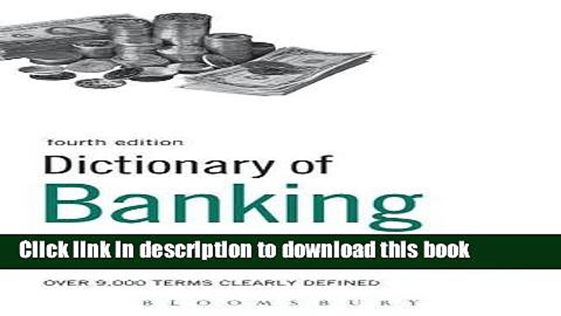 Books Dictionary of Banking and Finance: Over 9,000 terms clearly defined Full Online