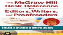 Books The McGraw-Hill Desk Reference for Editors, Writers, and Proofreaders(Book + CD-Rom) Full