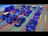 터닝메카드 블루 자동차 12대 총출동 나백작 에반 타돌 슈마 외 파워레인저 레인보우라인 배경 TurningMecard Car Toys