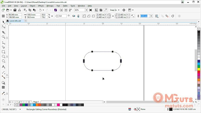 How to measure curve line size in CorelDraw - Free video tutorials