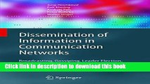 Ebook Dissemination of Information in Communication Networks: Broadcasting, Gossiping, Leader